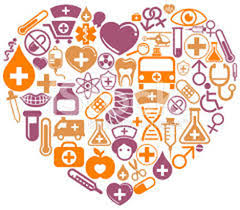 Picture of a heart comprised of health related images